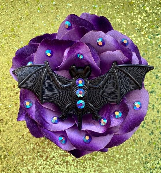 Image of Monster Batty Dreadful Rose Hair Flower - Purple