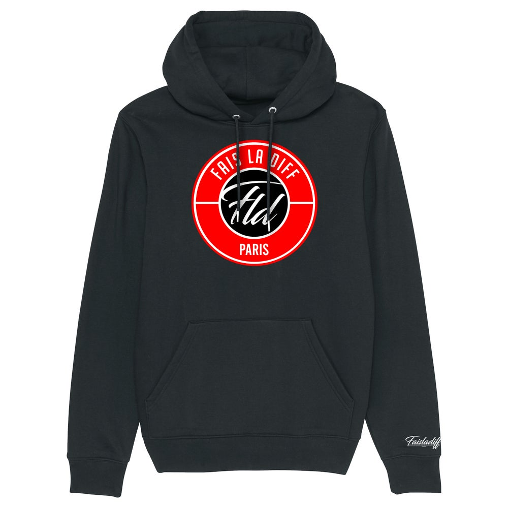 Image of SWEAT CAPUCHE NOIR - FLD RED