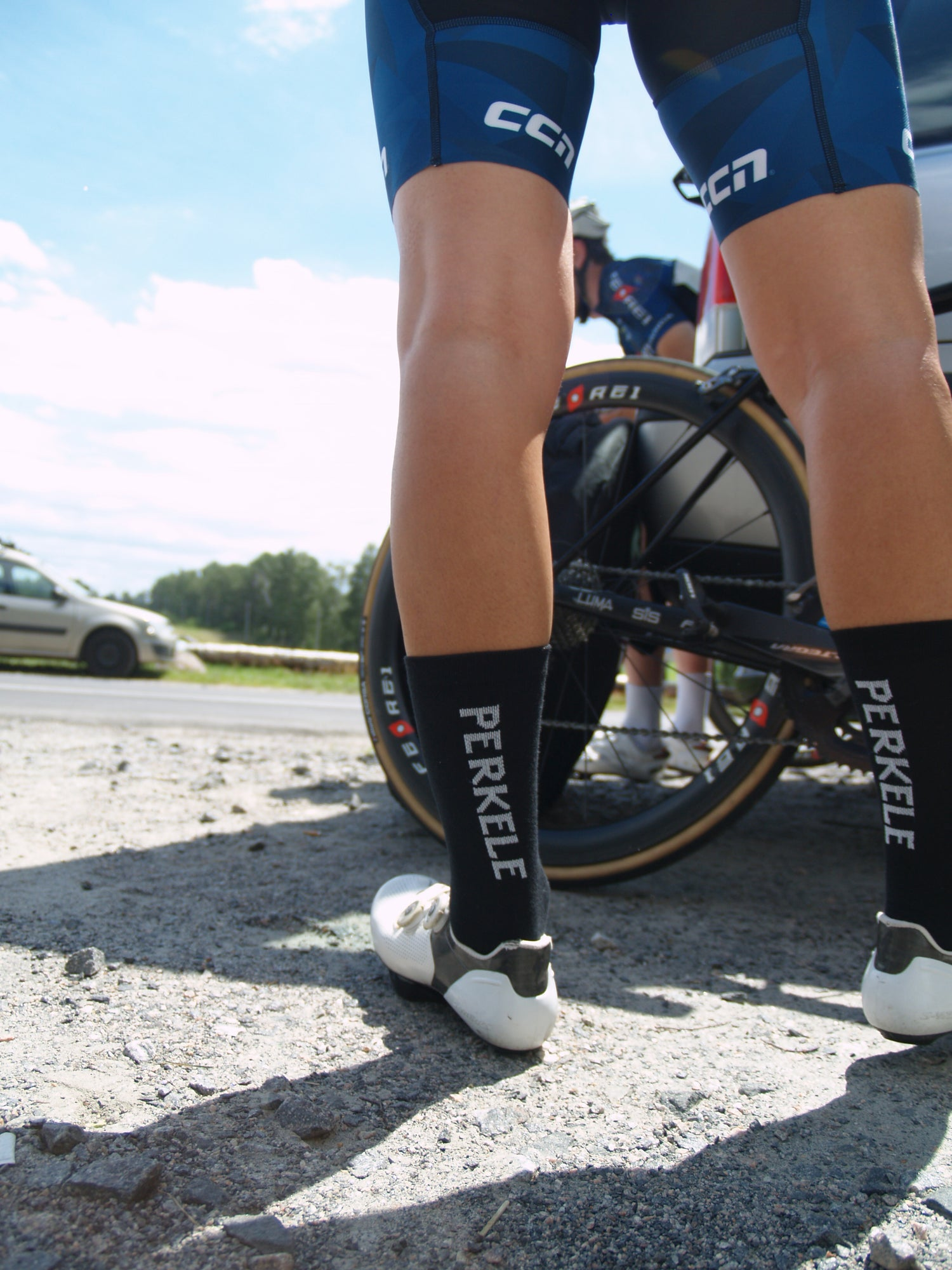 Image of 5.5 Inch 'Perkele' Summer Cycling Sock