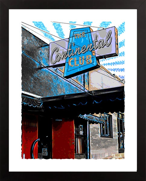 "Image of Continental Club Austin TX Giclée Art Print - 11"" x 14"""