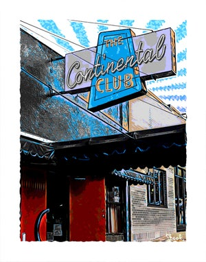 "Image of Continental Club Austin TX Giclée Art Print - 11"" x 14"""