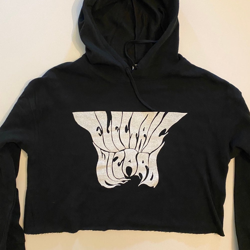 Image of Electric Wizard -  Women's Lightweight Crop Top Hoodie