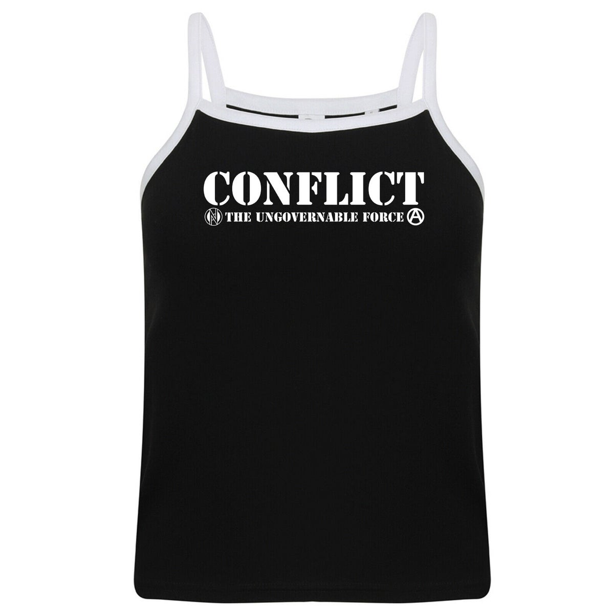 Image of CONFLICT Ungovernable Force strap top