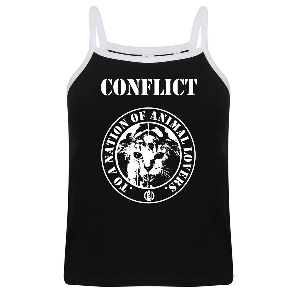 Image of CONFLICT Nation of Animal Lovers strap top