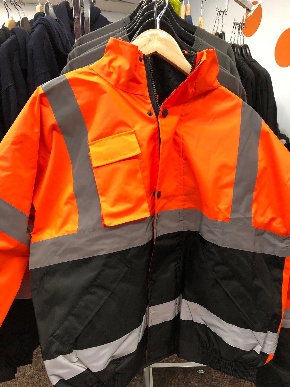 Bomber Style Reflective Safety Jacket
