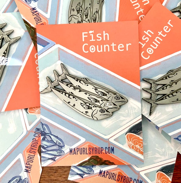 Image of Fish Counter Enamel Pin
