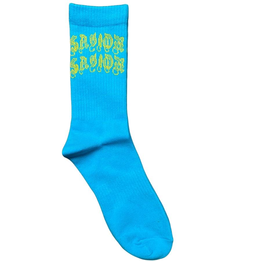 Image of  Savior Socks- Deep Sky Blue