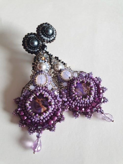 Image of Boucles d'oreilles TIE and DYE