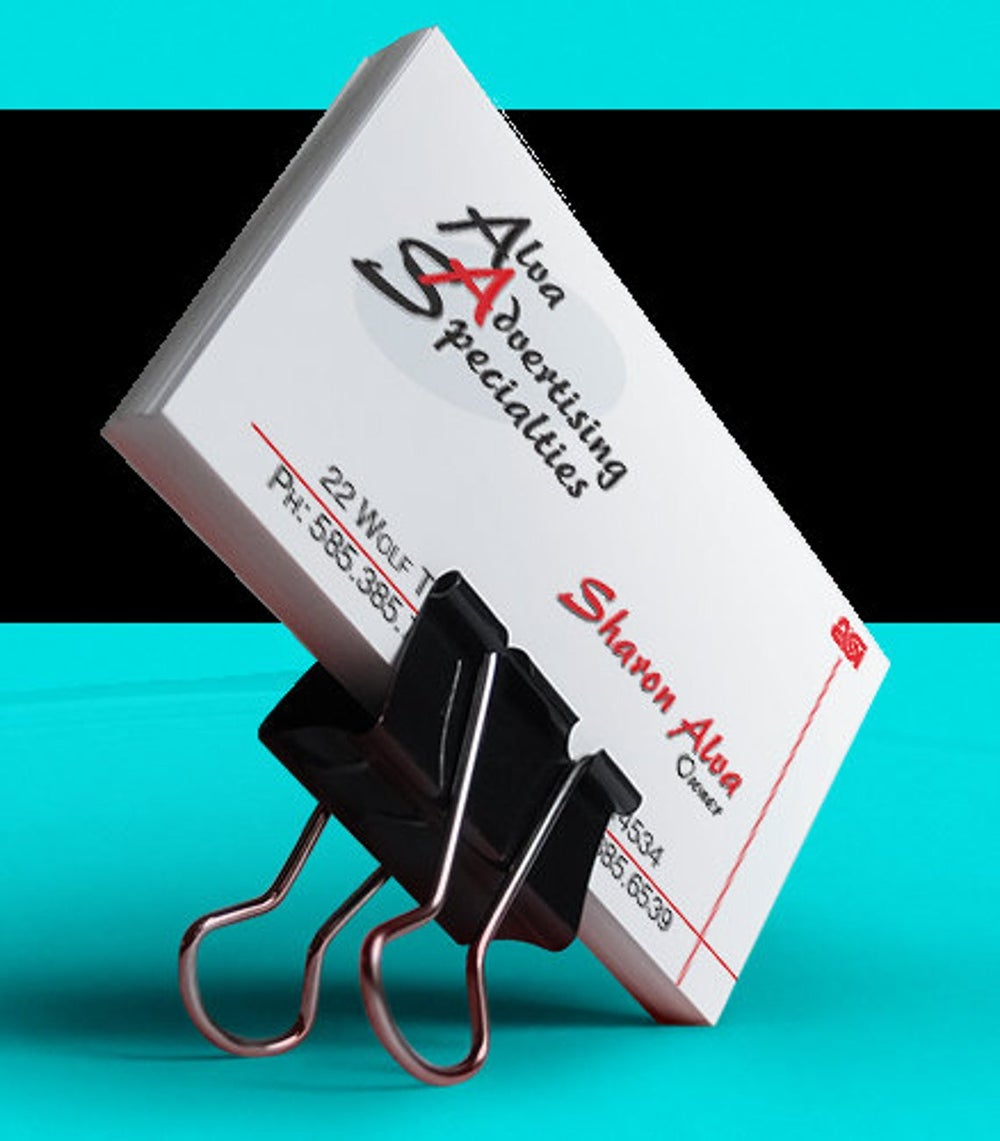 Business Card Design One Sided