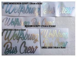 Image of Wolfsburg Bus Crew Rainbow/Chrome Sticker