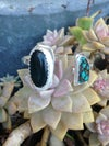 Turquoise & Jasper Double Stone Cuff