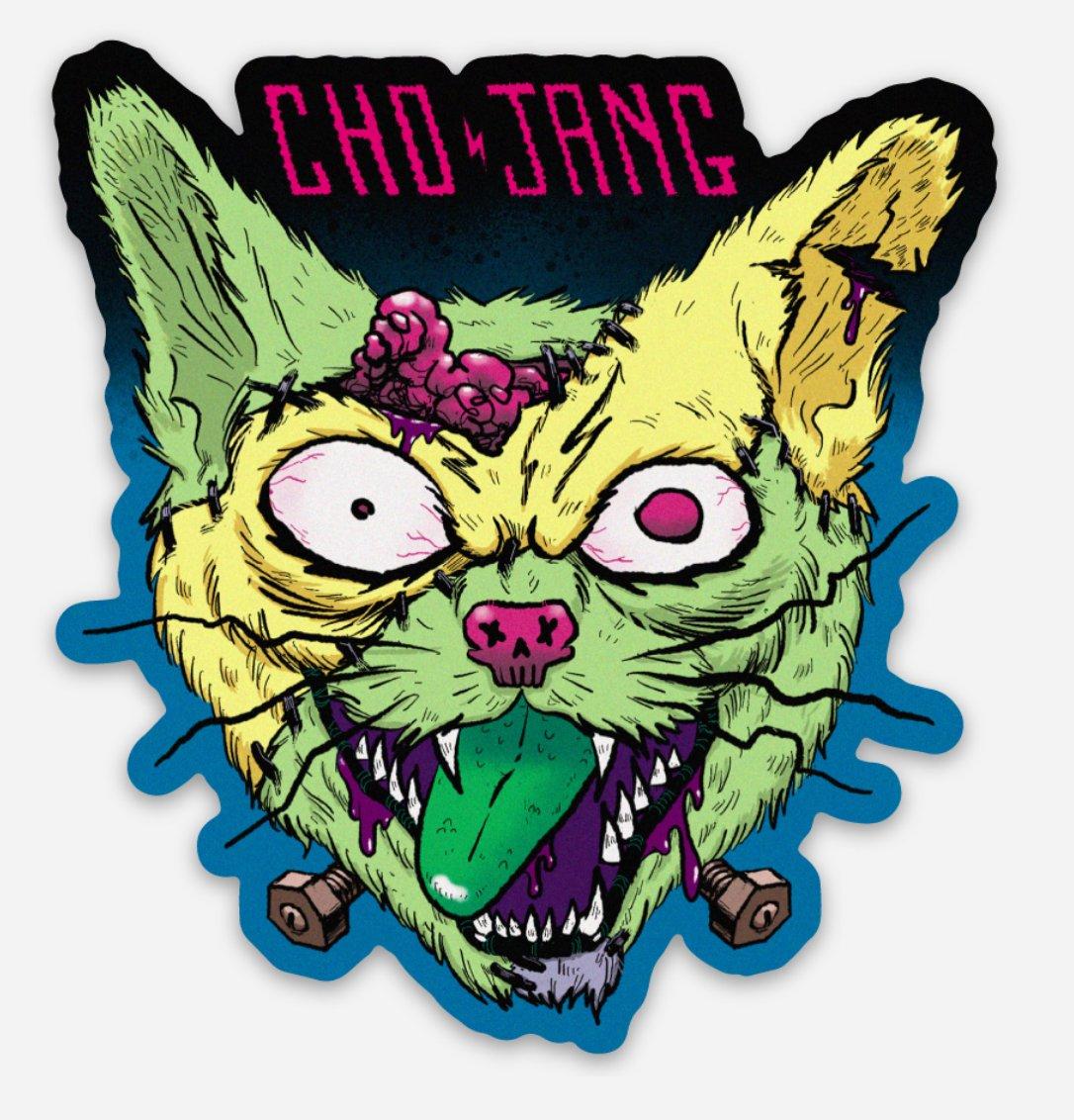 Image of Franken-Cat Sticker