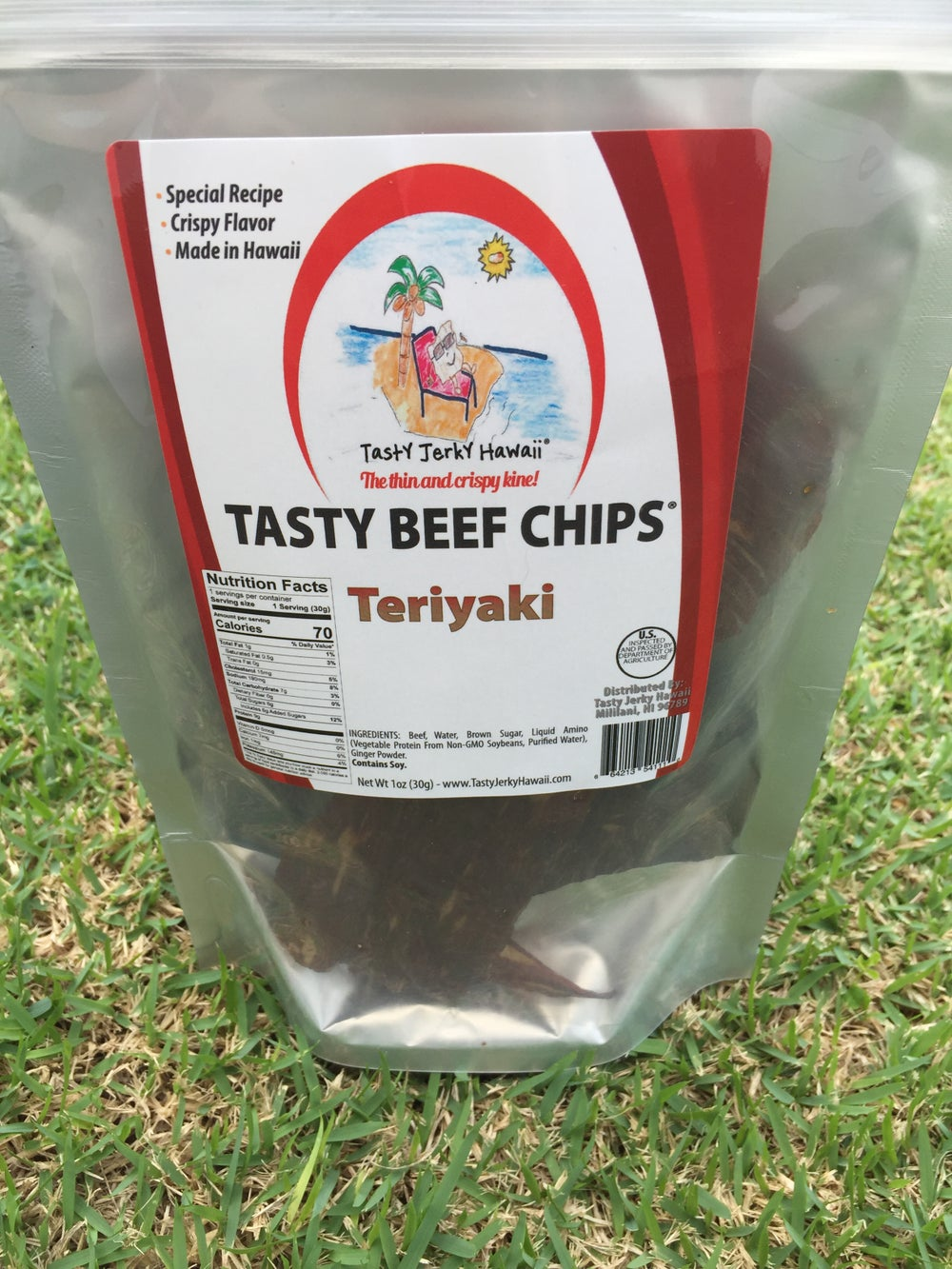 Image of Teriyaki beef jerky chips