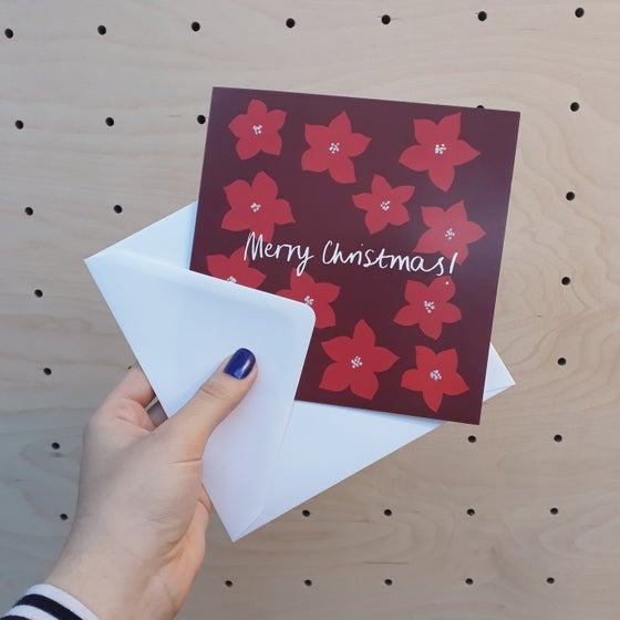 Image of Poinsettia Christmas Card