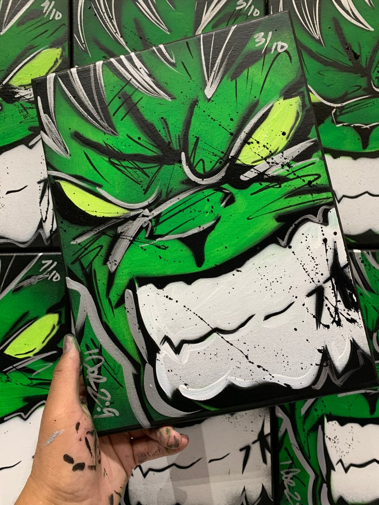 "Image of "" Hulk out! "" numbered  Run of 10 wave 2"