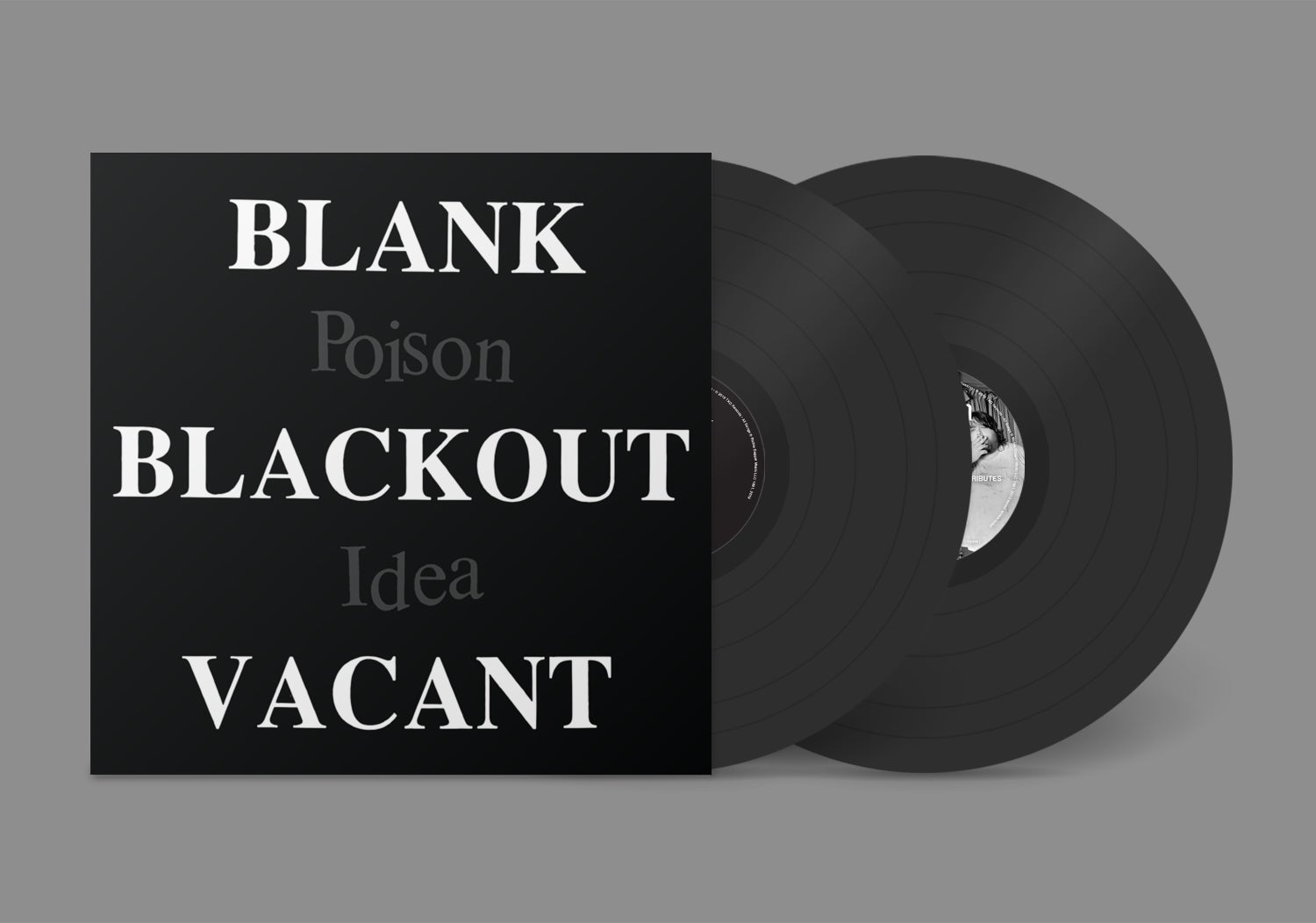 """Image of POISON IDEA - """"Blank Blackout Vacant"""" 2xLP w/Poster"""