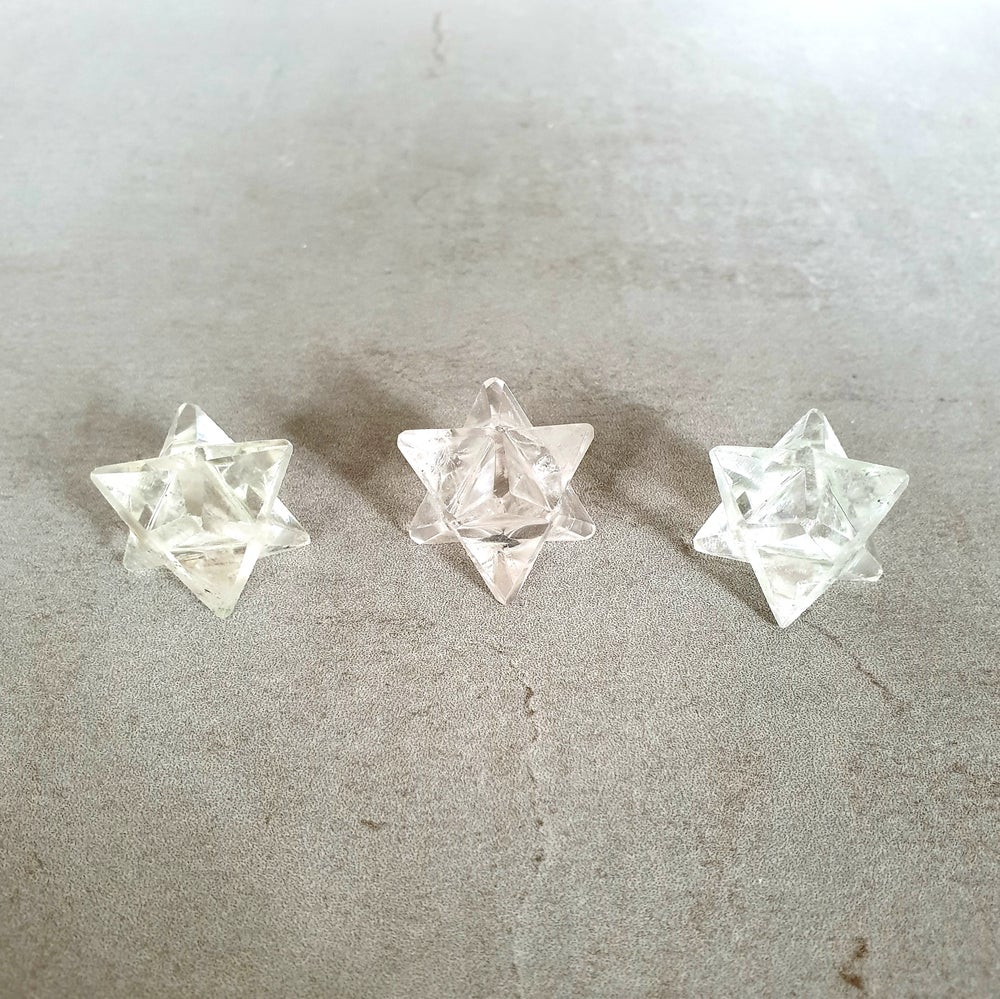 Image of CLEAR QUARTZ - Mini Merkaba