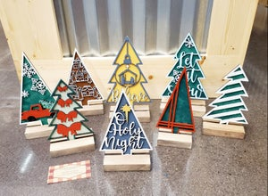 Image of 3D Layered Mini Christmas Trees - Series #2