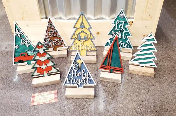 Image of 3D Layered Mini Christmas Trees - Series #2