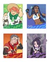 Pokemon Sword and Shield Galarian Gym Leaders Holographic Prints