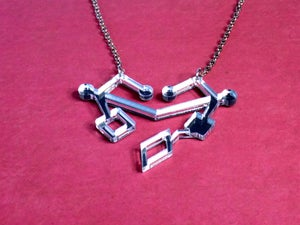 Space Lesbian Shiny Heart Necklace