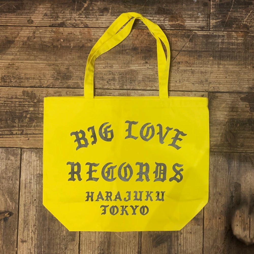 Image of BIG LOVE YELLOW TOTE