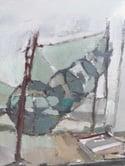 Mid-century Modern Swedish Artist 'Dry Dock'