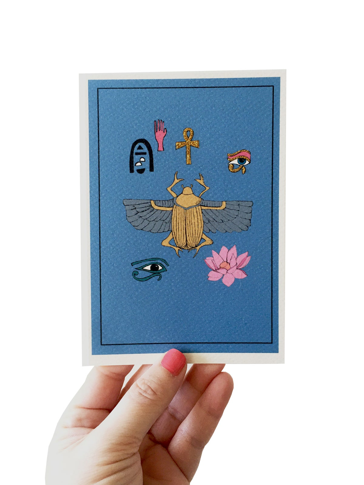 **NEW** Scarab Beetle Egypt Card