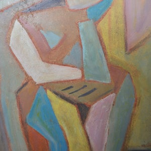 Image of Mid-century, French Abstract Portrait