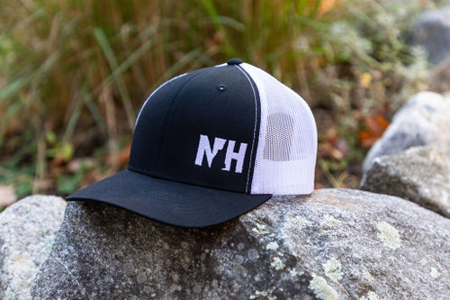 Image of NH Snapback Trucker Cap- Black/White