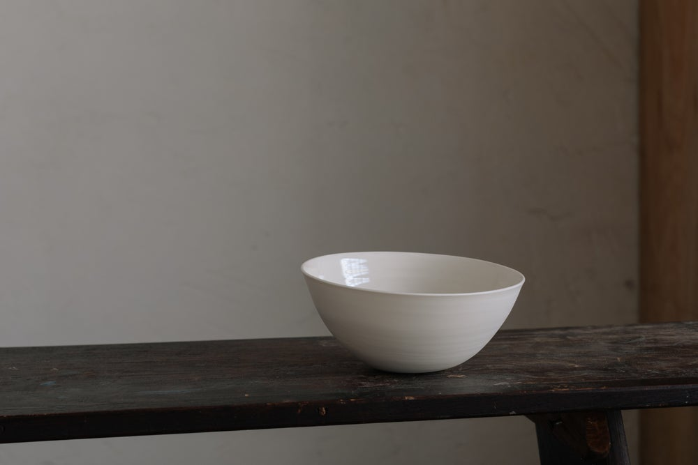 Cream Porcelain Bowl