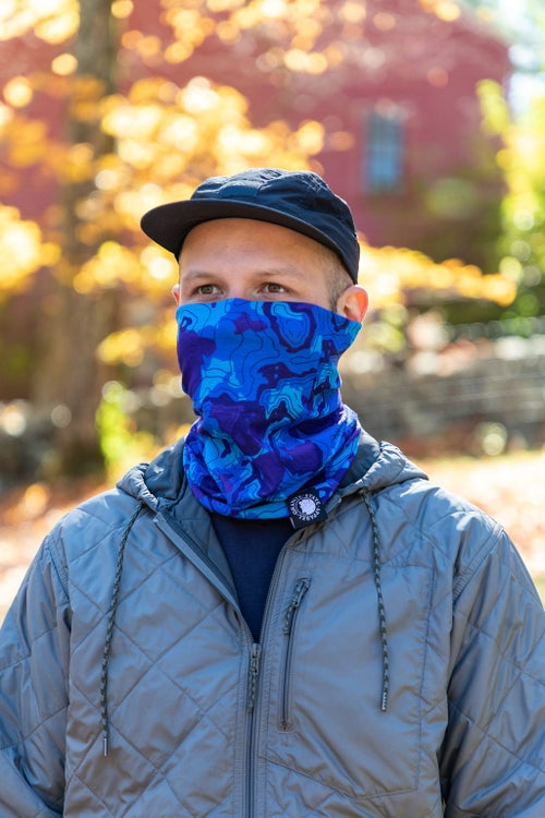 Image of Neck Gaiter- Blue Camo