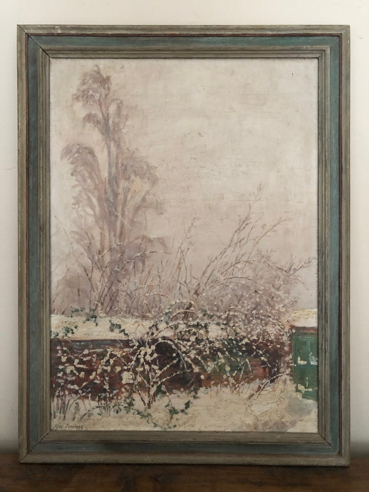 Image of Oil on board winter scene by Alix Jennings