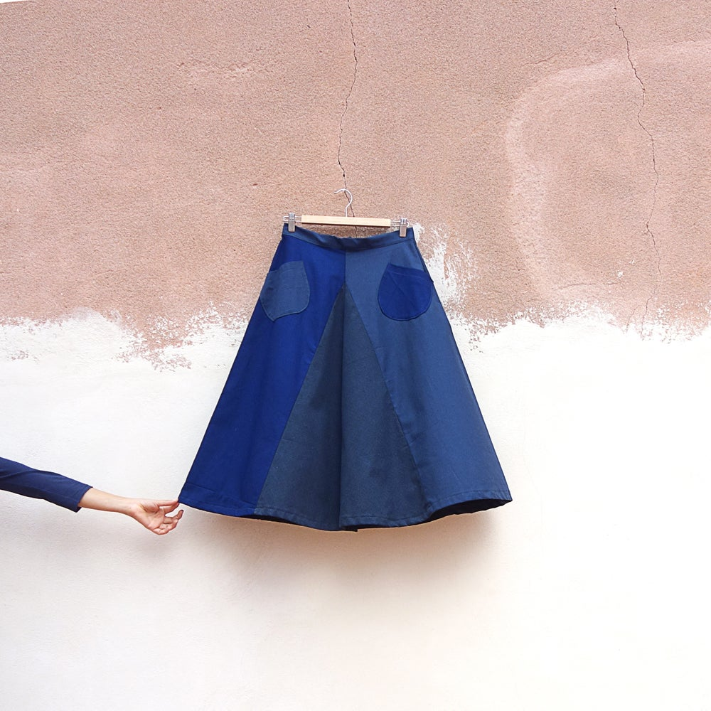 Image of BLUE FRANCH SKIRT