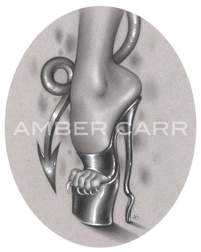 "Image of Devil heel 8"" x 10"" Print - Pre-order"