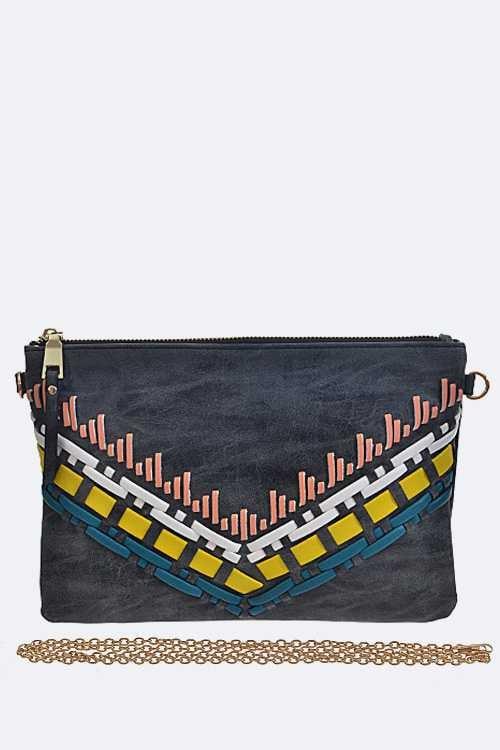 Image of Aztec Pattern Clutch