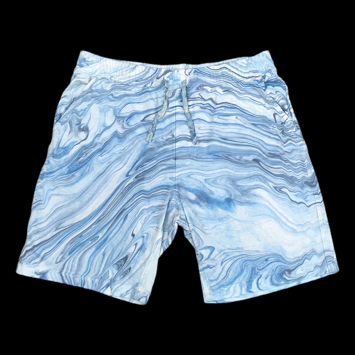 Blue Dream Hand Marble Dyed Unisex Jersey Shorts!