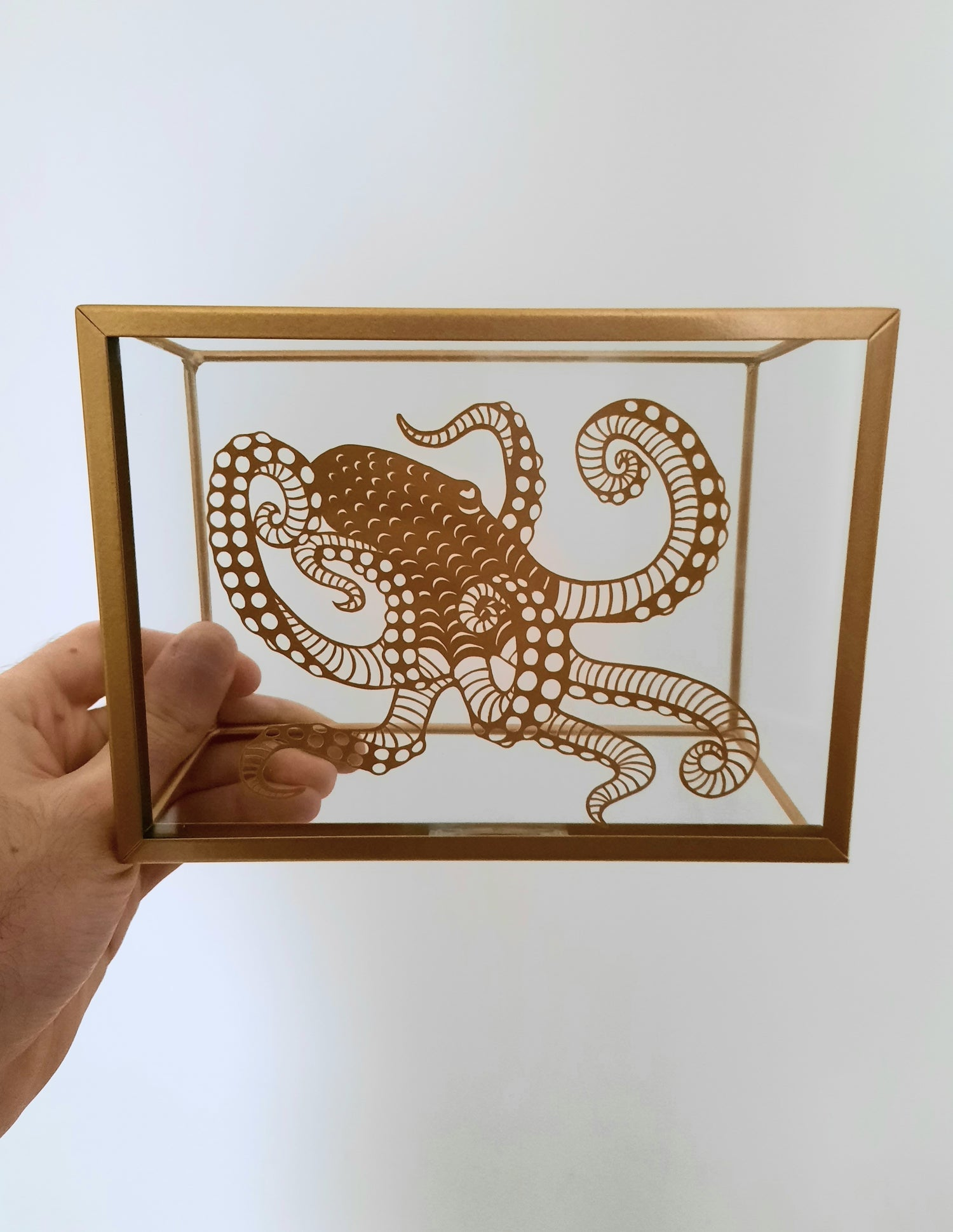 Image of Framed Octopus Paper Cutting