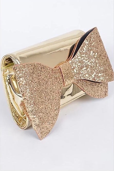 Image of Glitter Bow Clutch