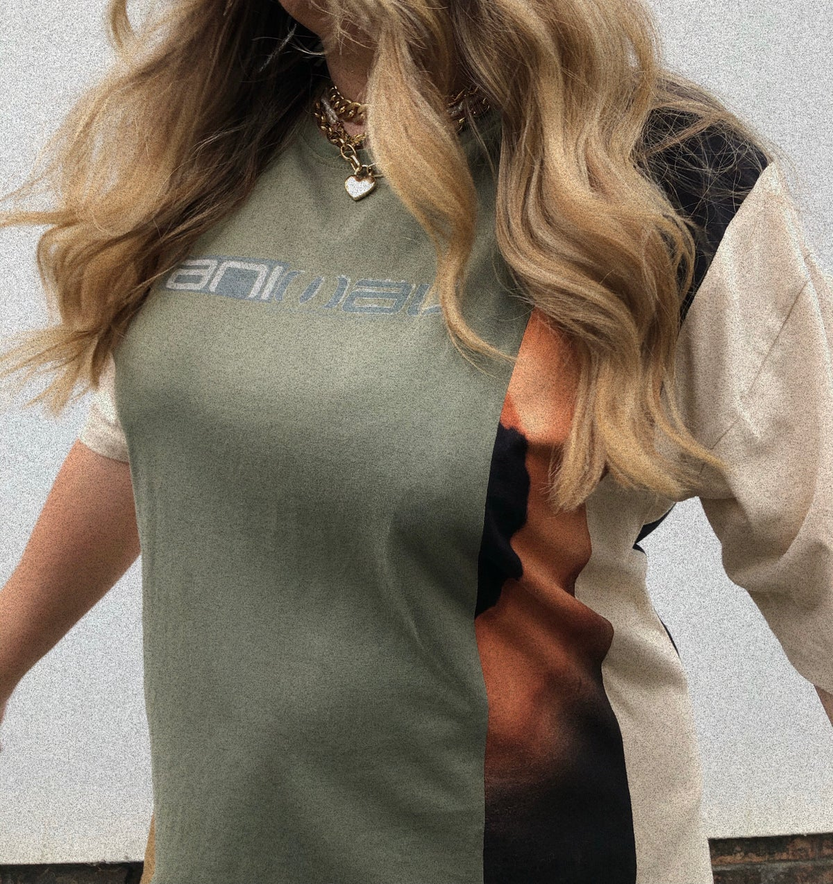 4 Part Animal Reconstructed T-Shirt