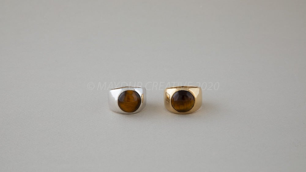 Image of 14mm TIGERS EYE Ring