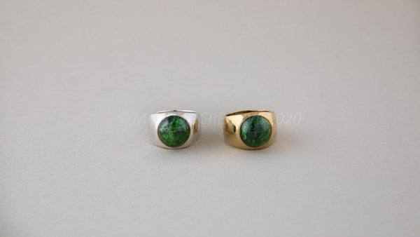Image of 14mm CHROME DIOPSIDE Stone Ring