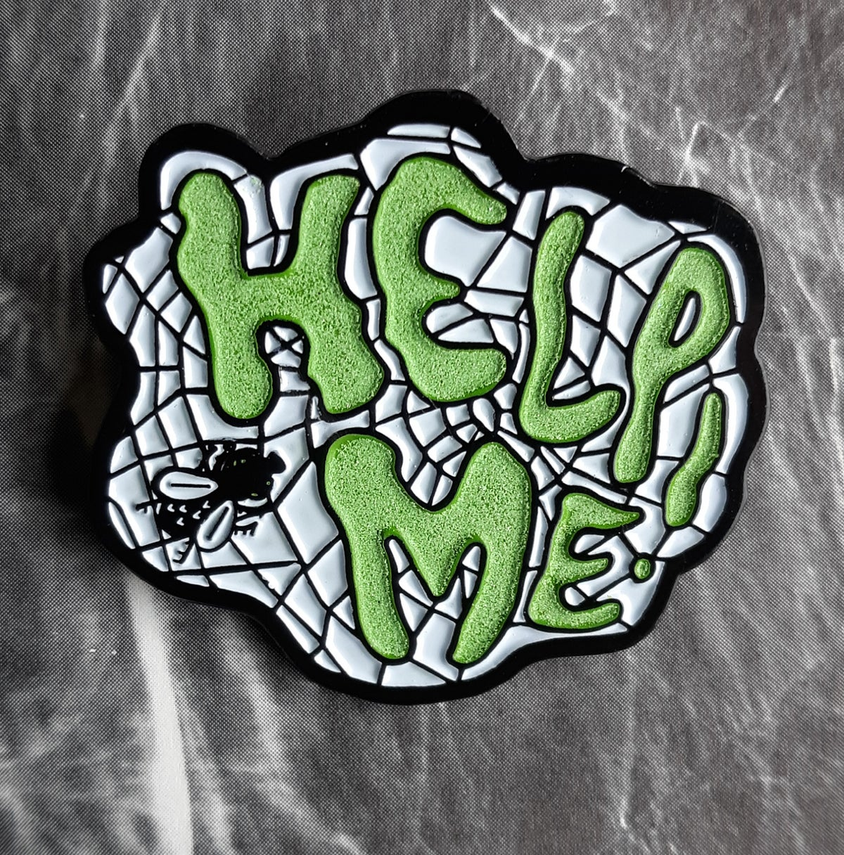 HELP ME! The Fly Glow-in-the-Dark Soft Enamel Pin