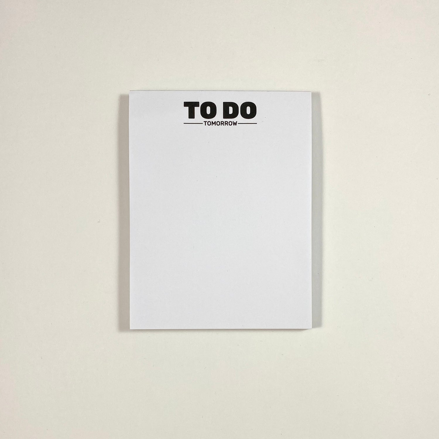 Image of To Do Tomorrow Notepad