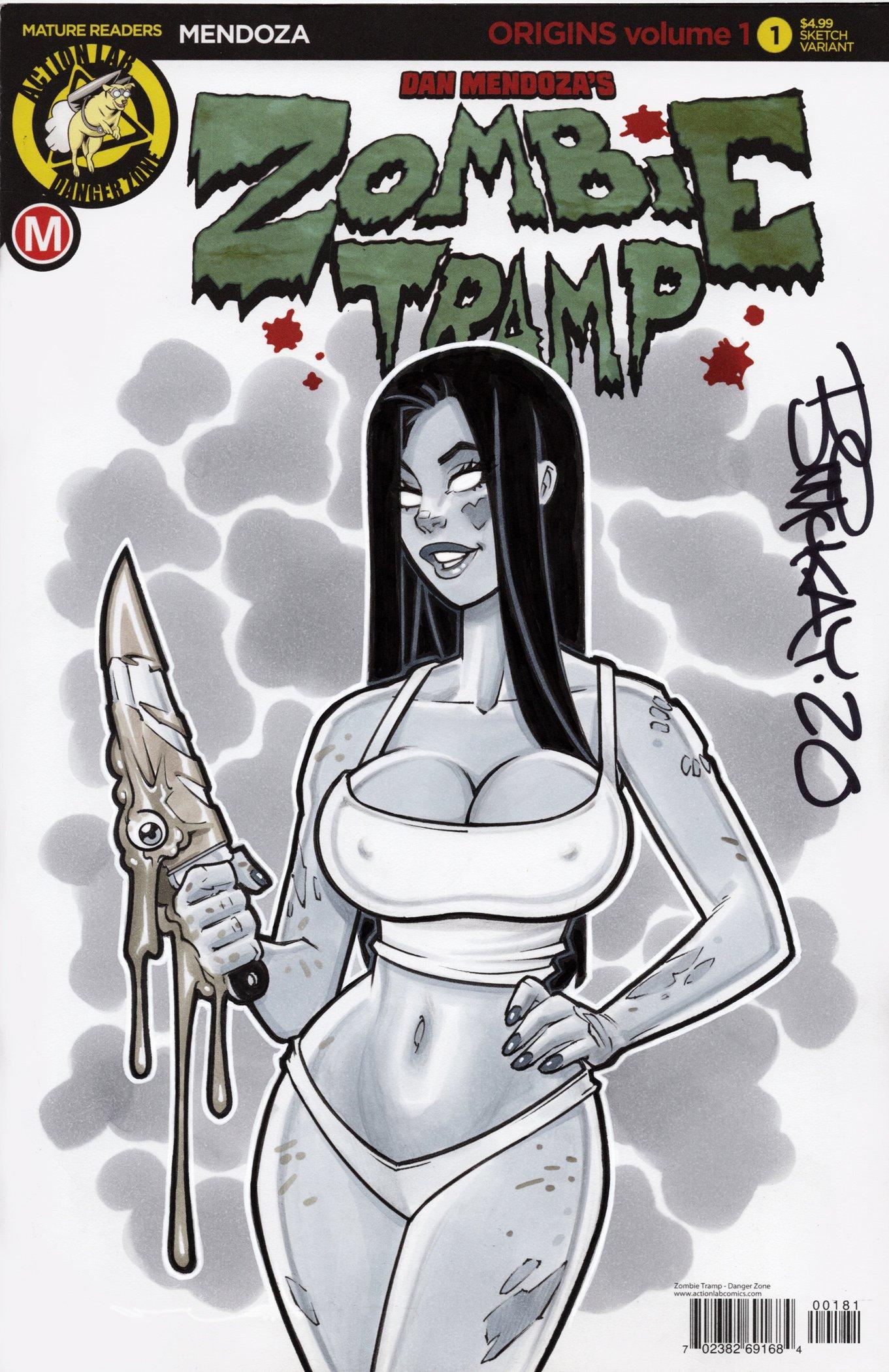 Zombie Tramp Chunky Original Sketch
