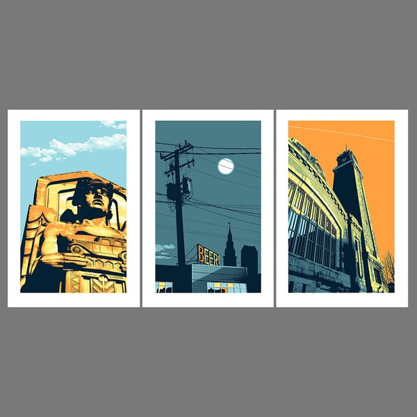 Image of Ohio City tryptic