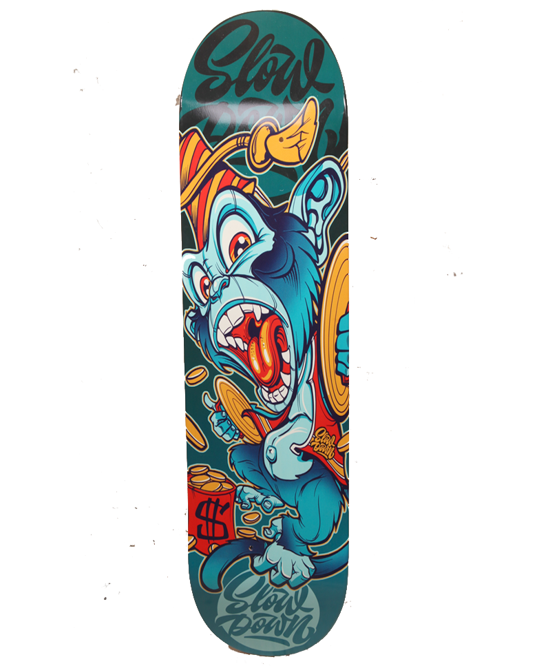 Image of Slowdown Grinder Monkey Skate Deck