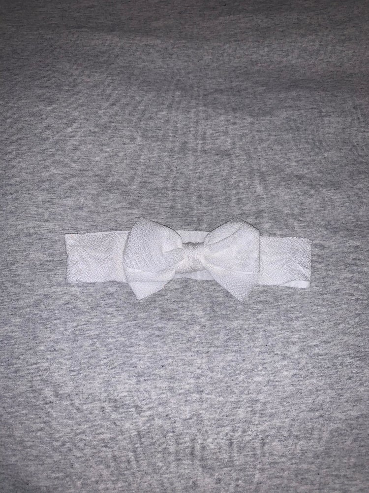 Image of Wide baby bow soft headband
