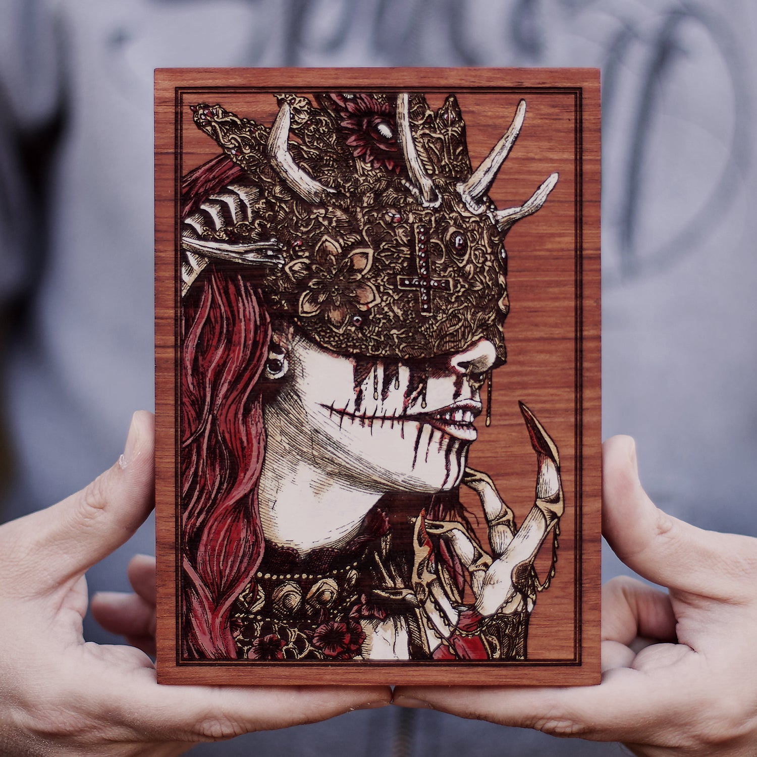 Image of The Lady of Ruin Engraved Painting Mini Variant