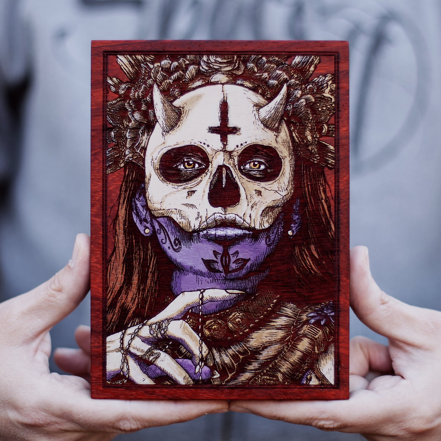 Image of The Lady of Death Engraved Painting Mini Variant